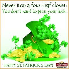 Some sage advice on St. Patrick's Day ;)