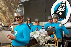 The Aquabats Super Show! #TheAquabats... I love this picture of the Bat commander so much! And then there's Eaglebones looking like he is up to something... @Brittany Moody