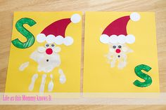 Fun Christmas craft. I think I will use this for preschool learning the letter S next week.