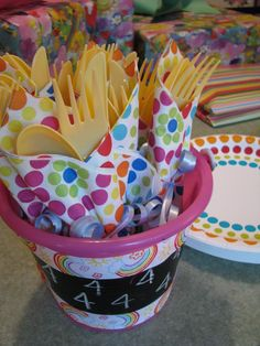 cutlery display for party