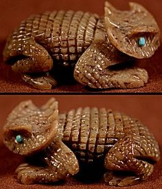 Bernie Laselute  | Serpentine  | Horned Lizard | Price: $135. +  shipping | Texas sales tax applies to Texas Residents! | CLICK  IMAGE for more views & information. | Authentic Zuni fetishes direct from Zuni Pueblo to YOU from Zunispirits.com!