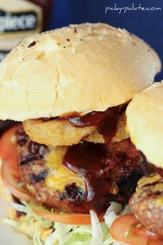Perfect for a BBQ. Cowboy Burgers & Bacon Ranch Zucchini Kebabs.