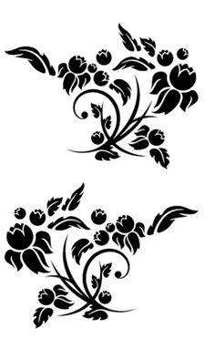 . printabl paper, transfer negro, printabl flower
