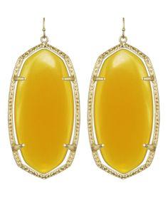 Danielle Earrings in Yellow #kendrascott #jewelry