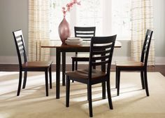 Amazon.com: Cafe 5 Pc Drop Leaf Table Set - Blackcherry: Furniture & Decor