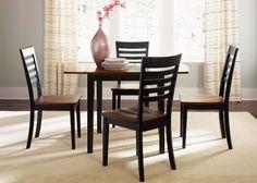 Amazon.com: Cafe 5 Pc Drop Leaf Table Set - Blackcherry: Furniture & Decor