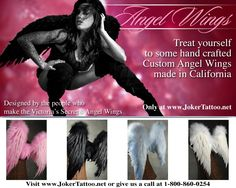 Ever wanted to be an Victoria Secret Angel? Get your wings here. #Jokertattoo