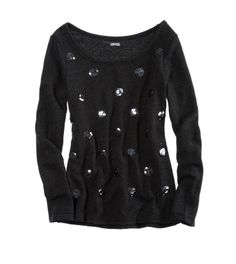Sequin Dot Sweatshirt