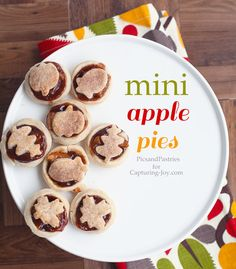 How to make a mini apple pie, great recipe for FALL! Includes a fun tip to make the perfect mini pie crust!