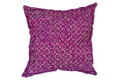Fucshia Embroidered Tribal Pillow on OneKingsLane.com