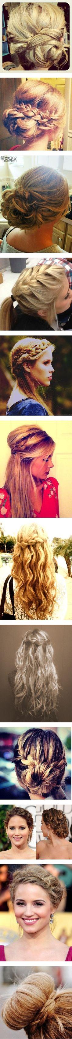 Awesome braided hair buns