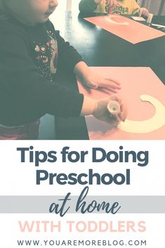 Tips for preschool at home with toddlers. Some of our favorite resources for preschool at home.