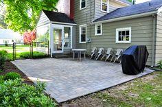 3 day DIY brick patio