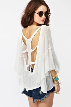 back cut-out shirt