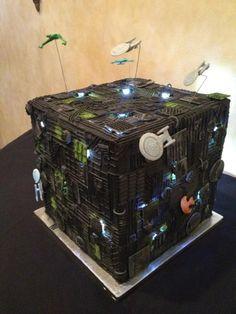 I need this cake. Resistance is Futile: Star Trek Borg Cube Wedding Cake