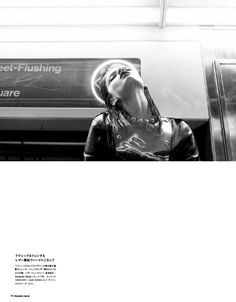 Crystal Renn Takes the Subway in Style for Numéro Tokyo by Laurie Bartley