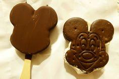 Mickey ice cream bar & Mickey ice cream sandwich