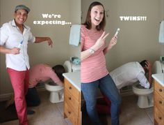 Hopefully this will not be me someday...but it sure is a fun way to announce twins! Haha