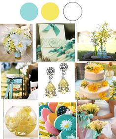 My wedding colors....tiffany blue and yellow :)