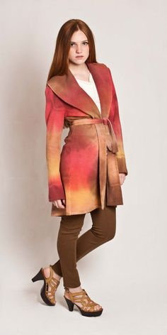 Hues effect dyed jacket wool jacket multicolored by texturable