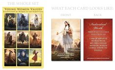 For LDS Young Women.  Women in the scriptures and the values.