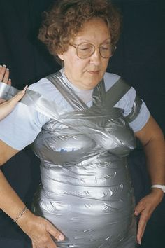 Make your own dress form with duct tape!  Tutorial at http://www.threadsmagazine.com/item/3631/duct-tape-dress-form-2  #duct #tape #dress #form #dressform #ideas #diy #craft #sew #sewing