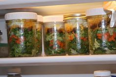 Layered Salad -- we like to put them in mason Jars so they last longer and are a great grab and go lunch
