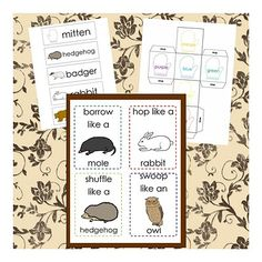 The Mitten activities could also be used with hibernation theme