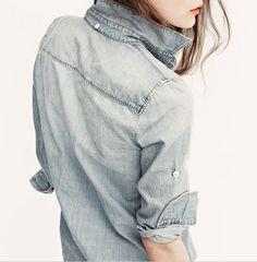 Denim blouse #simple #fashion #verilystyle