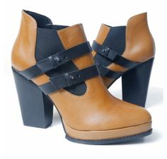 Kelsi Dagger 'Ivey' Boot (Cognac/Black)