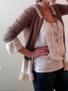 lace and cardi upcycle love 24