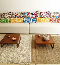 Ikat print pillows - interior design