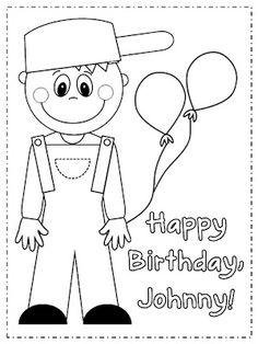 Free Johnny Appleseed coloring page