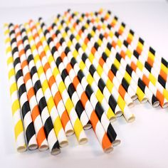 Construction Mix Striped Paper Straws (30 Count) - Birthday Party, Cake Pop Sticks, Cupcake Toppers on Etsy, $5.00
