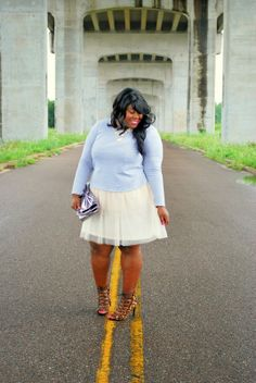 Periwinkle and Blush, via Musings of a Curvy Lady: Fat Fancy