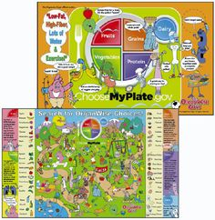 Fun placemats for kids from The OrganWise guys.    #3201 The OrganWise Guys MyPlate Placemat