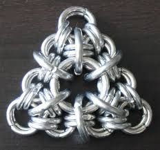 candy cane cord chainmaille - Google Search