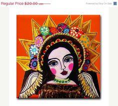 art tiles, art ceram, mexican folk art, ceram tile, gifts, ceramics, folk art mexican, angel art, angels