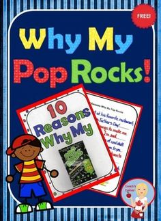 Why My Pop Rocks - A FREE Father's Day Card Activity