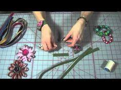 video tutorial.. how to create a zipper flower