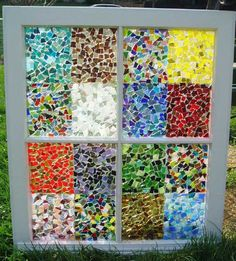 This Garden Glass Window is called 'Mosaic Squares'.