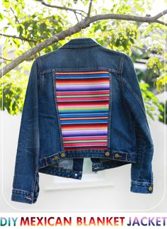colourful denim jacket