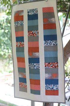 Fat Quarter Quilt - baby clothes' blocks