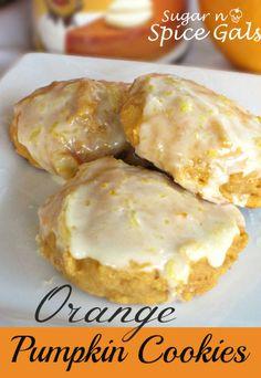 Orange Pumpkin Cookies on MyRecipeMagic.com #cookies #pumpkin #orange