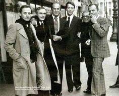 Halston with Marc Bohan, Oscar de la Renta, Joe Eula and Bill Blass