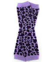 #92 Lavender Purple Leopard baby leg warmers for girl toddler child by My Little Legs