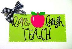 hand, pta gifts, teacher gifts, laugh teach, gift ideas, craft idea, breads, gift cards, wood doors