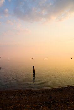 Al Bahr Al Mayet, Falasteen. sunset.