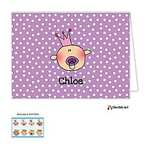 Custom Family Baby Princess Folded Note Card