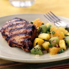 Grilled Chicken with Fruit Salsa | MyRecipes.com #myplate #protein #fruit